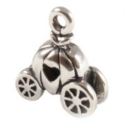 Cinderella Coach 3D Sterling Silver Charms